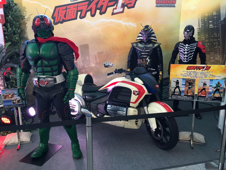 仮面ライダー1号、ネオサイクロン号、地獄大使、ノバショッカー戦闘員