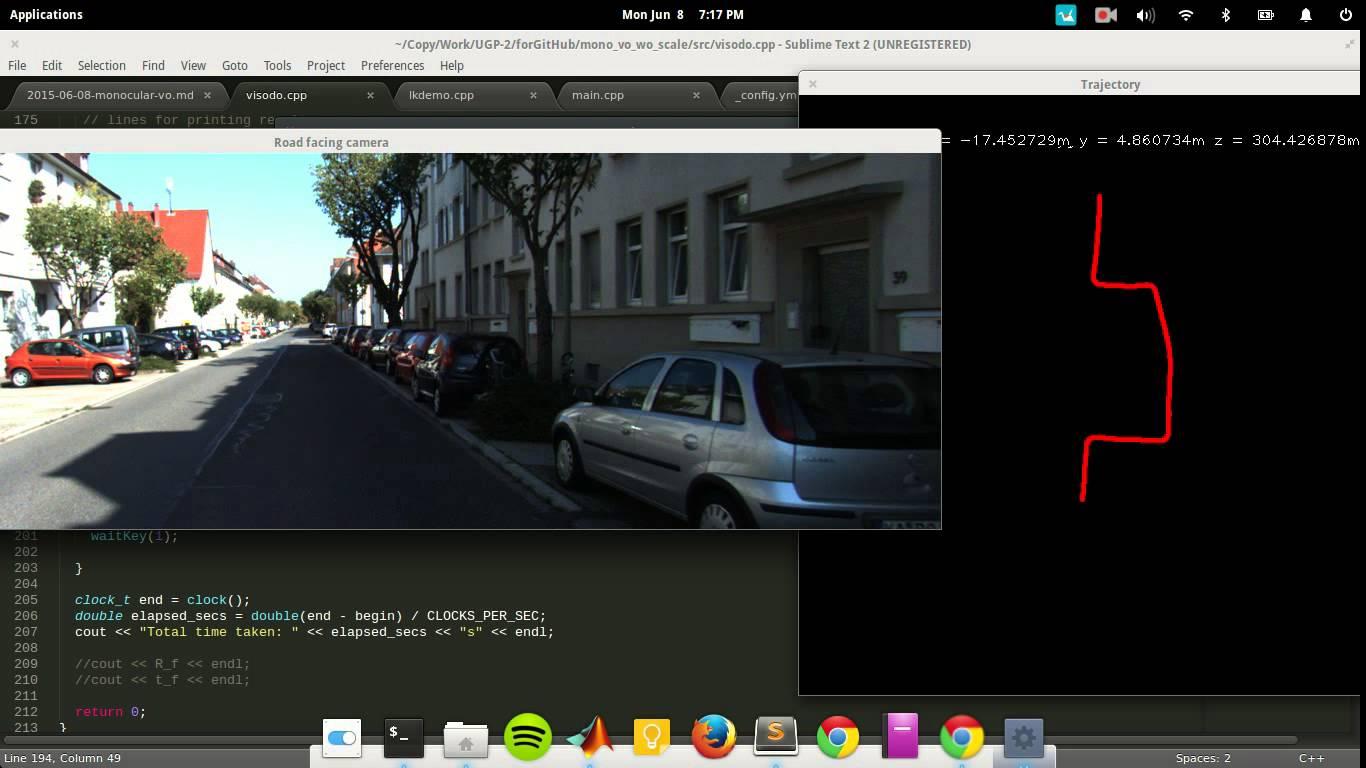 OpenCVでカメラ画像から自己位置認識 (Visual Odometry