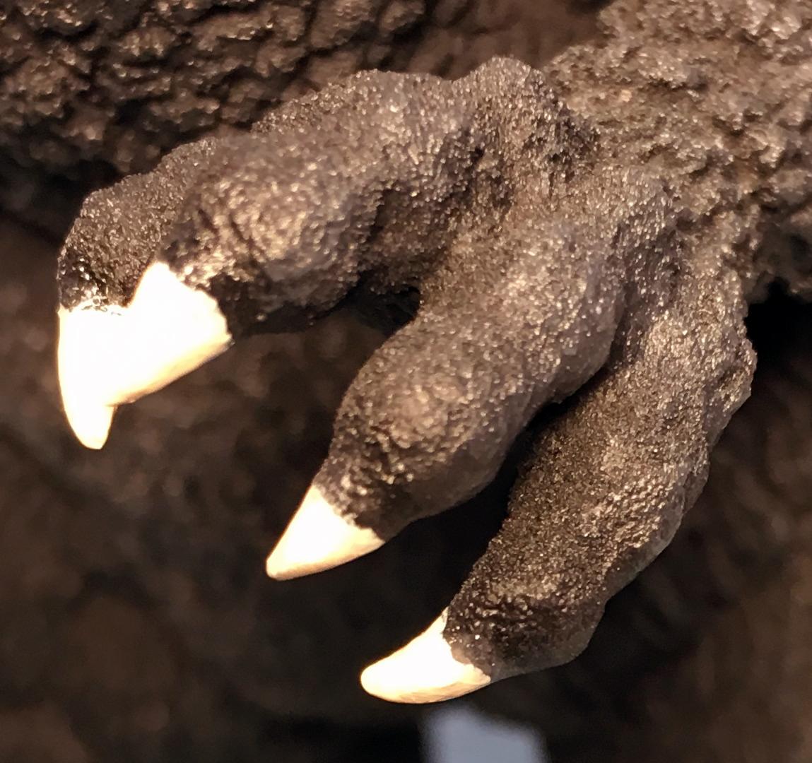 爪のベース色を塗る